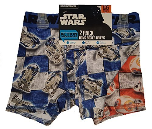Star Wars R2-D2 & BB-8 2 Pack Boxer Briefs - Small