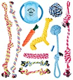Pacific Pups Products Supporting pacificpupescue.com - Dog Rope Toys for Aggressive CHEWERS - Set of 11 Nearly Indestructible Dog Toys - Bonus Giraffe Rope Toy - Benefits NONPROFIT Dog Rescue