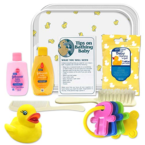 CONVENIENCE KITS Deluxe Baby Bath 9 PC Kit Featuring: Johnson & Johnson Baby Bath Products
