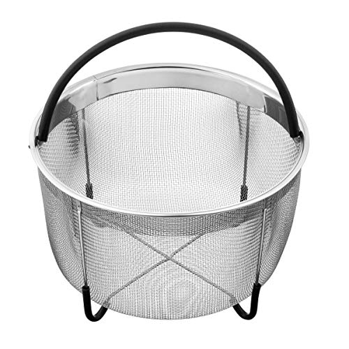 Bellemain Stainless Steel Fine Mesh Steamer Steamer Basket for 6 Quart Instant Pot with Stay-Cool Handle