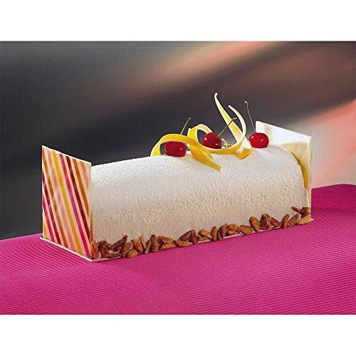 Matfer Bourgeat PVC Large Half Circle Yule Log Cake Mold, 10PK (Pairs) Clear 362001