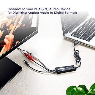 ارخص مكان يبيع V.TOP USB 2.0 Audio Capture Card with Music Editing Software for Cassette Player Recorder - Convert Cassette/Radio to MP3