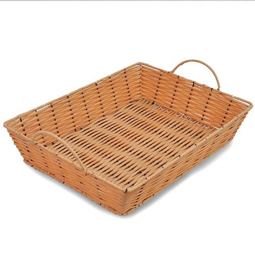 The Lucky Clover Trading Display Basket, Synthetic Wicker Tray, Natural