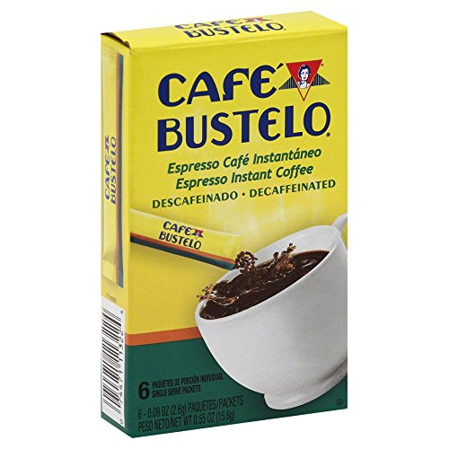 Café Bustelo Espresso Style Decaffeinated Dark Roast Instant Coffee, 72 Count Single Serve Packets