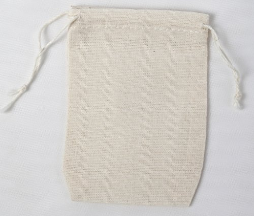 Made in the USA mini cotton double drawstring bags (all natural)