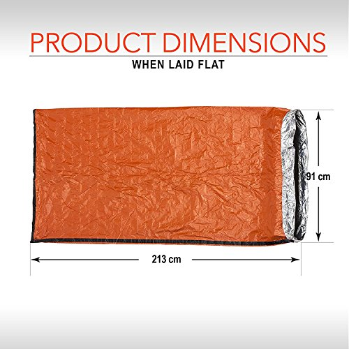 MiaoMa Emergency Survival Sleeping Bag Lightweight Waterproof Bivy Sack Outdoor Thermal Blanket First Aid Camping Gear Orange