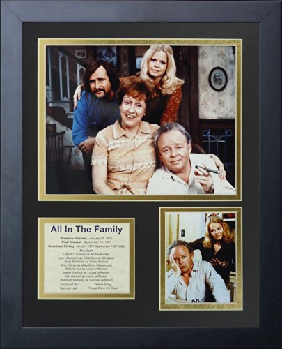 "All in the Family 11"" x 14"" Framed Photo Collage by Legends Never Die, Inc."