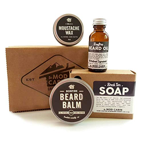 Core Beard Kit - Bonfire & Birch Tar Combo - All Natural, Hand Crafted in USA