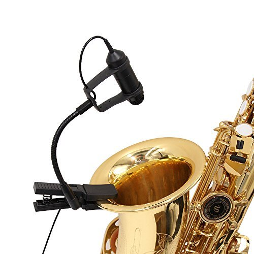 Nicama Cardioid Condenser Clip-on Instrument Saxophone Toms Brass and Percussion Microphone 4-pin XLR Output for Shure Wireless Microphone Transmitter