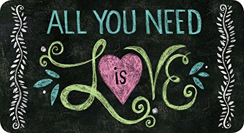 Toland Home Garden All You Need is Love Chalkboard 20 x 38 Inch Decorative Inspirational Heart Anti Fatigue Comfort Mat