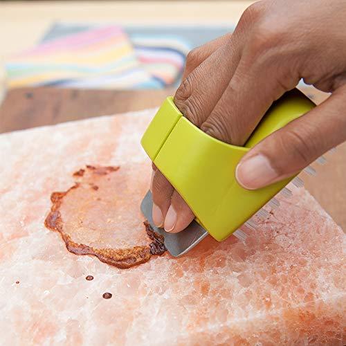 Charcoal Companion CC4108 HIMALAYAN SALT PLATE SCRUBBER BRUSH
