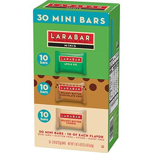 Larabar Minis Gluten Free Bar Variety Pack, Apple Pie, Peanut Butter & Chocolate Chip Cookie, 0.78 oz Bars (30 Count)