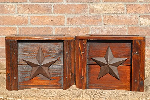 Set of 2 Handmade Rustic Cedar Planter Boxes