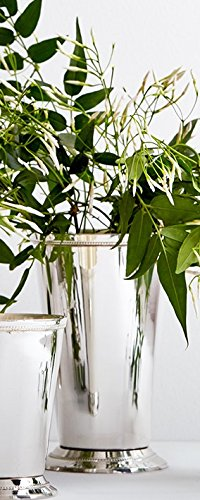 """Serene Spaces Living Classic Silver Plated Julep Cup, Measures 4"""" Diameter and 6.5"""" Tall"""