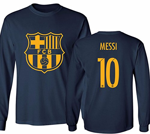Barcelona Soccer Shirt Lionel Messi #10 Futbol Jersey Youth Long Sleeve T-shirt