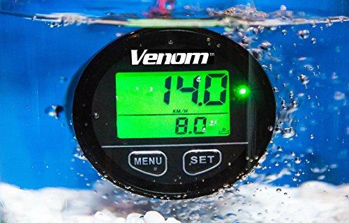 Premium WATERPROOF Venom 12-24 Volt GPS Voltage/Clock/Speedometer Meter Gauge For Boat Marine Motorcycle Snowmobile ATV Tractor