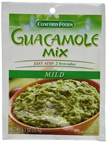 Concord Foods: Mild Guacamole Dip Mix (Pack of 4) 1.1 oz Packets