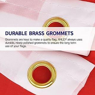 شراء Anley Fly Breeze 3x5 Foot American US Flag - Vivid Color and UV Fade Resistant - Canvas Header and Double Stitched - USA Flags Polyester with Brass Grommets 3 X 5 Ft