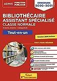 Concours Bibliothécaire assistant spécialisé - Tout-en-un - Catégorie B - Concours 2020-2021