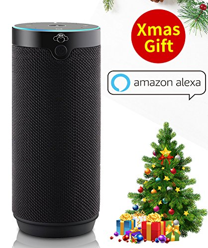 Portable Bluetooth Speakers Voice Control Compatible with Alexa (Black)