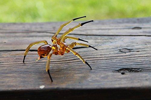 Glass Spider Figurine Blown Glass Spider, Spider hallowee figurine glass insect Art Glass Spider blown glass figurine Spider glass insects lampwork Spider