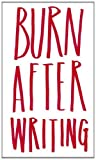 Burn After Writing by Sharon Jones (2014-04-23) - Carpet Bombing Culture - 23/04/2014