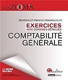 Comptabilité générale - Exercices avec corrigés détaillés - Gualino Editeur - 27/08/2013
