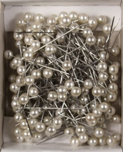"Pins Decorative Pearl Corsage Pins 1.25"" Craft Pins 144 Pieces Per Box White 38325"