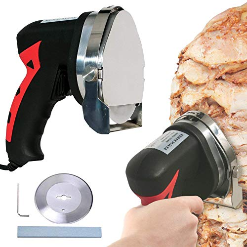 WyzWorks Vertical Spit Electric Meat Slicer Cuts Shawarma Kebab Al Pastor Meat + More