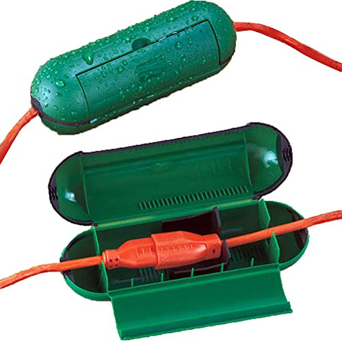 Hot Headz Extension Cord Safety Seal Water Resistant Cord Cover, 8.25 x 3 x 3-Inch, Green