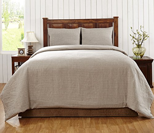 Be-You-tiful Home Florence 3-Piece Duvet Cover, King, Walnut Brown