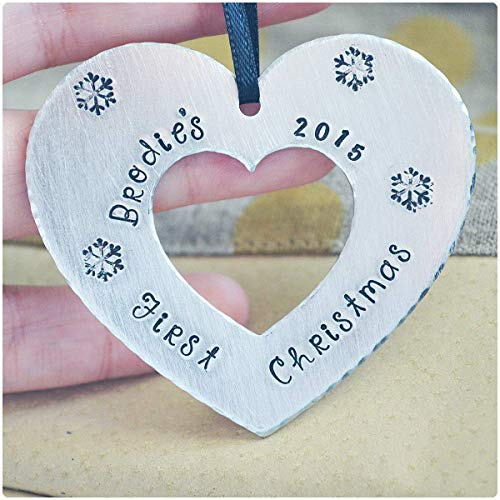 Baby's First Christmas Ornament 2019, New Parent Gift, Newborn Christmas, Personalized Christmas Ornaments, Custom Name Ornament