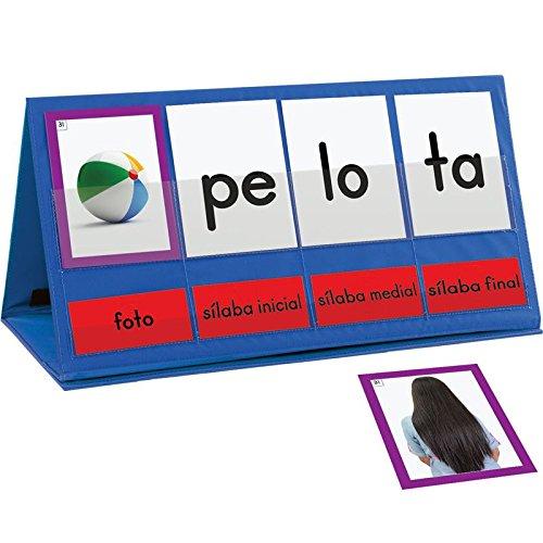 Spanish Word Building Desktop Pocket Chart Tent38; Cards Kit