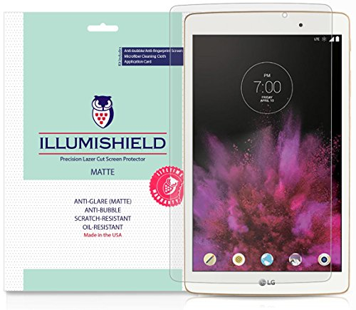 iLLumiShield Matte Screen Protector Compatible with LG G Pad X 8.0 (2-Pack) Anti-Glare Shield Anti-Bubble and Anti-Fingerprint PET Film