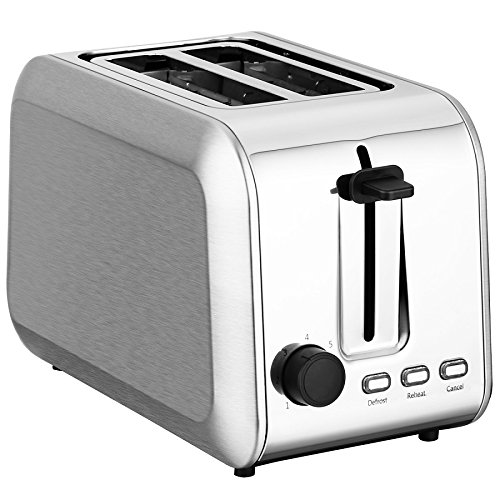 ToBox TB-ST013 2-Slice COMPACT STAINLESS STEEL TOASTER, silver