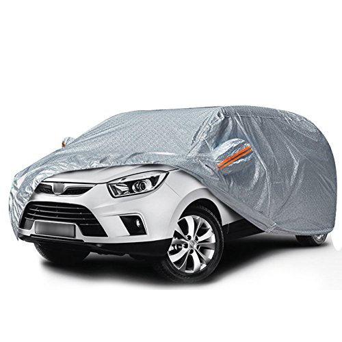 YITAMOTOR SUV Car Cover Universal Fit All Weather Full Breathable Soft Aluminum Waterproof Outdoor Indoor Dust Snow Sun UV Proof Rain Wind Resistant (Fits up to 206
