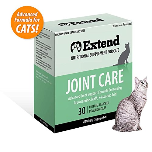 Extend - Joint Care for Cats - One Month Supply- Glucosamine for Cats - Advanced Joint & Hip Supplement with MSM, Chondroitin, 100%, ALL NATURAL