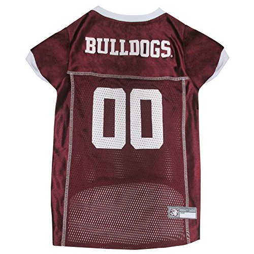 Pets First Collegiate Mississippi State Bulldogs Dog Mesh Jersey, X-Large