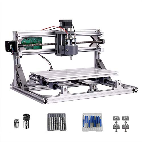 CNC 3018 Router Kit GRBL Control 3 Axis Plastic Acrylic PCB PVC Wood Carving Milling Engraving Machine, XYZ Working Area 300x180x45mm