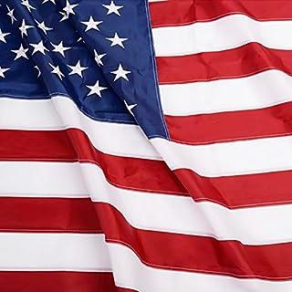 عرض Anley Fly Breeze 3x5 Foot American US Flag - Vivid Color and UV Fade Resistant - Canvas Header and Double Stitched - USA Flags Polyester with Brass Grommets 3 X 5 Ft