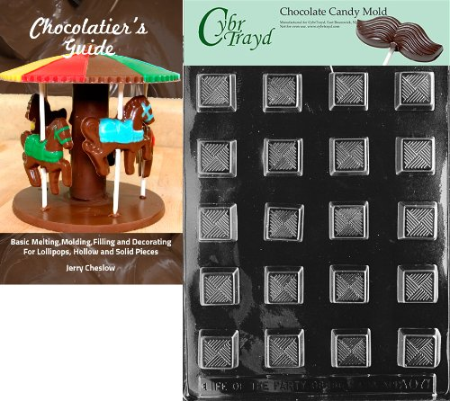 Cybrtrayd Bk-AO071 Traditional Square All Occasions Chocolate Candy Mold
