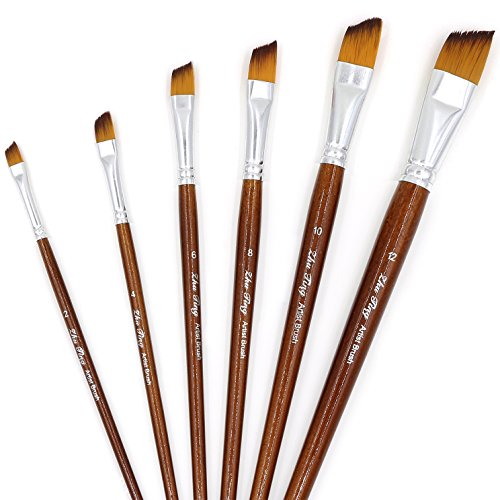 YOUSHARES 6 pcs Art Paint Brush Set for Watercolor, Oil, Acrylic Paint / Craft, Nail, Face Painting