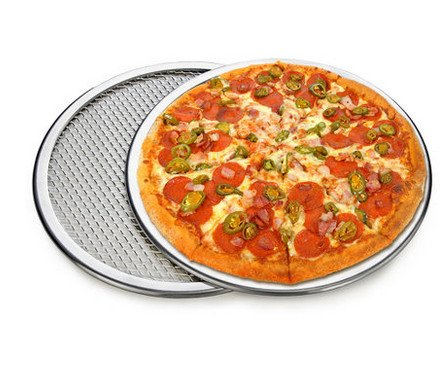 """14"""" Pizza Baking Tray, Screen Round aluminum, healthy, high heat resistant, easy to clean,"""