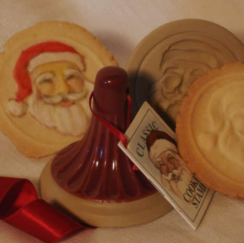 Brown Bag Santa Cookie Stamp - Christmas Series