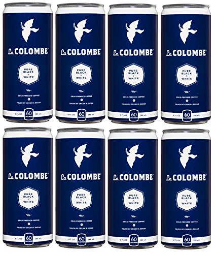 La Colombe Coffee Roasters Pure Black & White (Pack of 8)