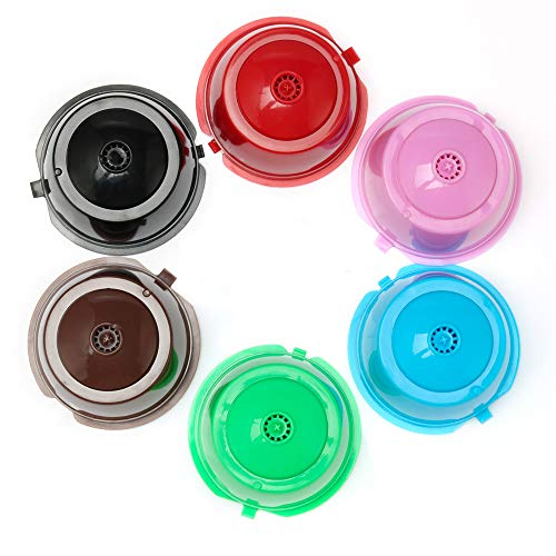 BRBHOM Colorful Dolce Gusto Refillable Capsules Pods Rusable Coffee Filters Set of 6