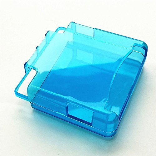 Replacment Plastic Protective Protector Cases Shell For GBA SP Gameboy Advance Sp Console (Clear Blue)