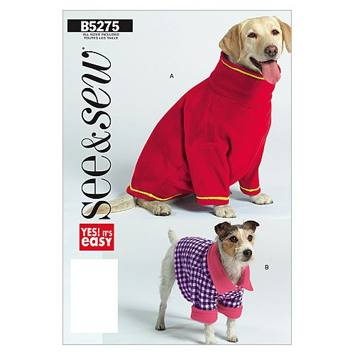BUTTERICK PATTERNS B5275 Dog Coats