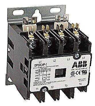ABB, DP30C4P-2, 4 Pole, 30 Amps, 240VAC Coil, Definite Purpose Contactor