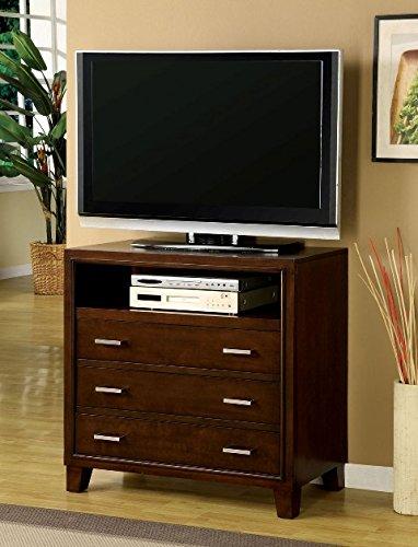Furniture of America Enlarta Contemporary 3 Drawer Media Chest - Cherry